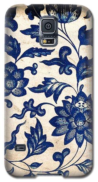 Blue Oriental Vintage Tile 06 Galaxy S5 Case