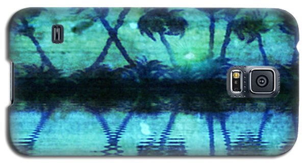 Galaxy S5 Case featuring the painting Blue Paradise by Holly Martinson
