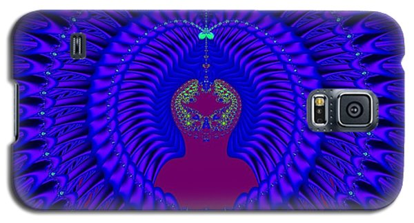 Blue Peacock Fractal 92 Galaxy S5 Case