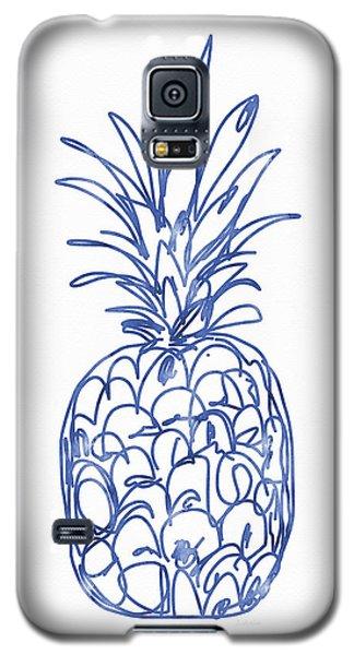 Blue Pineapple- Art By Linda Woods Galaxy S5 Case by Linda Woods