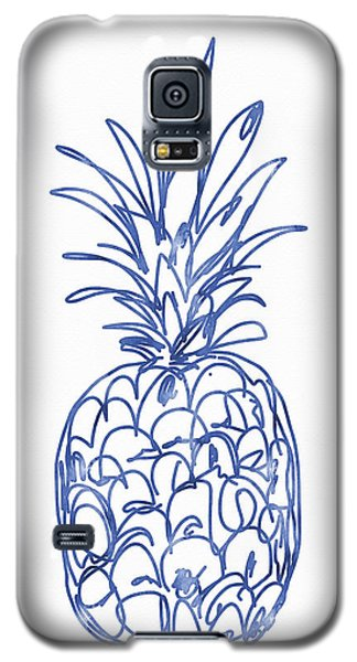 Fruits Galaxy S5 Case - Blue Pineapple- Art By Linda Woods by Linda Woods