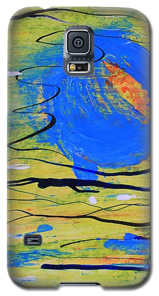 Blue Planet Abstract Galaxy S5 Case