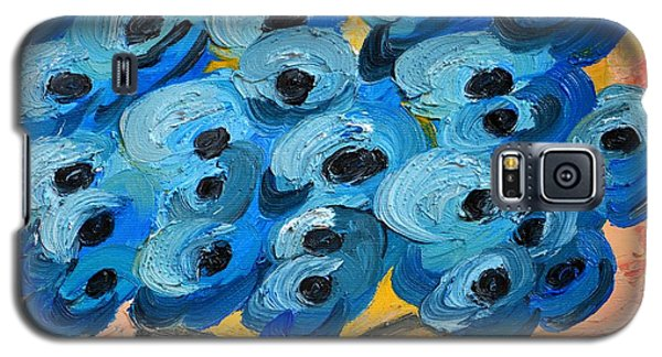 Blue Poppies In Square Vase  Galaxy S5 Case