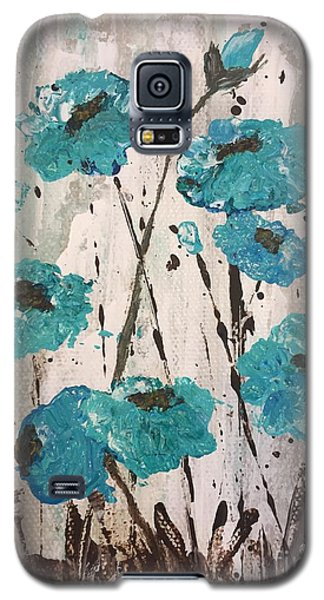 Galaxy S5 Case featuring the painting Blue Poppies by Lucia Grilletto