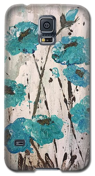 Blue Poppies Galaxy S5 Case by Lucia Grilletto
