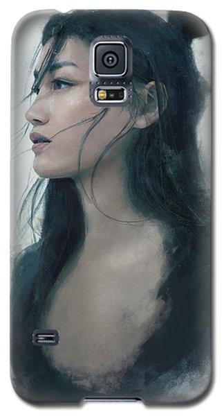 Blue Portrait Galaxy S5 Case by Eve Ventrue