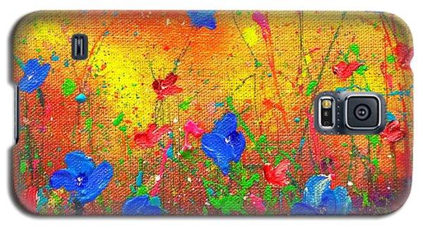 Blue Posies II Galaxy S5 Case