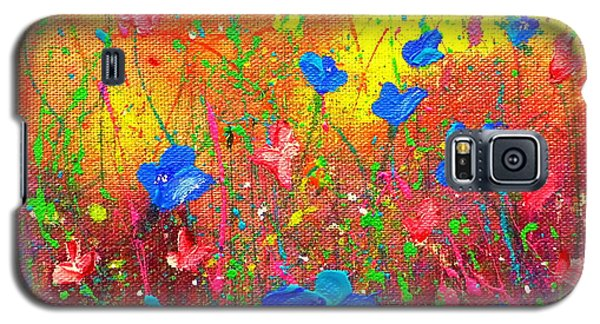 Blue Posies Galaxy S5 Case