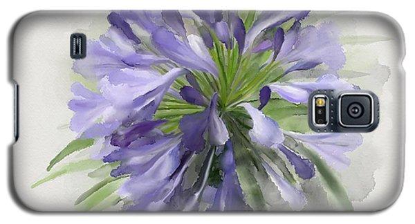 Blue Purple Flowers Galaxy S5 Case