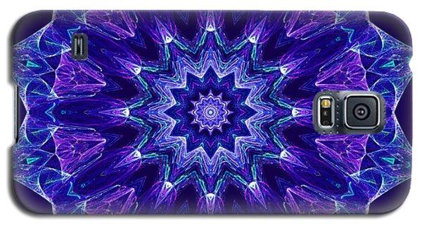 Blue And Purple Mandala Fractal Galaxy S5 Case