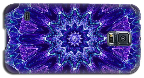 Blue And Purple Mandala Fractal Galaxy S5 Case