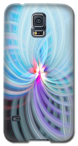 Galaxy S5 Case featuring the photograph Blue/purple Spere by Cherie Duran