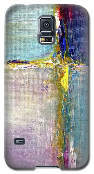 Galaxy S5 Case featuring the painting Blue Quarters by Nancy Merkle