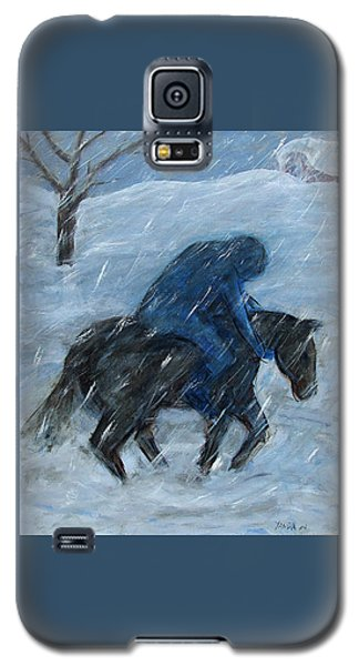 Blue Rider On Horse Galaxy S5 Case