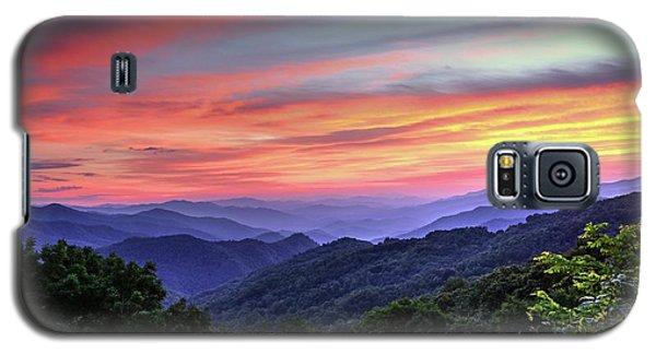Blue Ridge Mountain Color Galaxy S5 Case