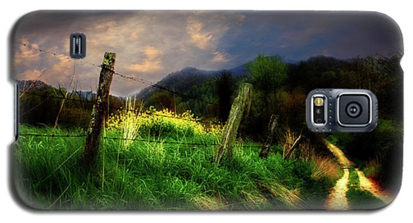 Galaxy S5 Case featuring the photograph Blue Ridge Mountain Country Road by Gray  Artus