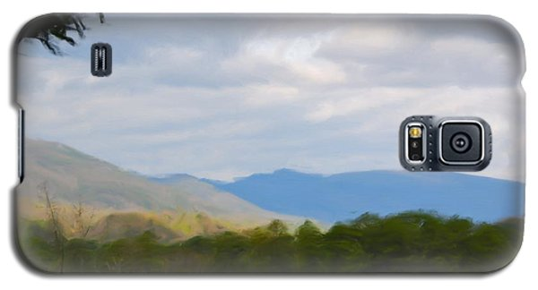 Galaxy S5 Case featuring the painting Blue Ridge Mountain by Jan Daniels