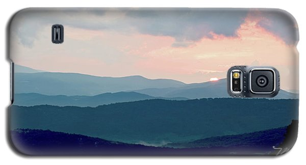 Blue Ridge Mountain Sunset Galaxy S5 Case