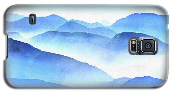 Blue Galaxy S5 Case - Blue Ridge Mountains by Edward Fielding