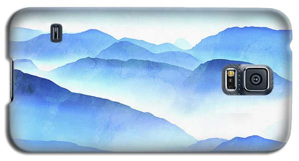 Color Galaxy S5 Case - Blue Ridge Mountains by Edward Fielding