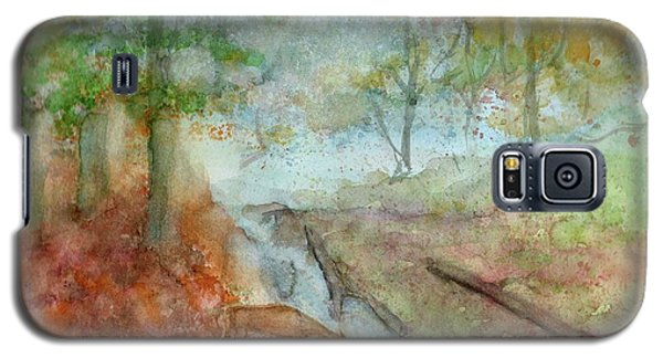 Galaxy S5 Case featuring the painting Blue Ridge Mountains Memories by Doris Blessington