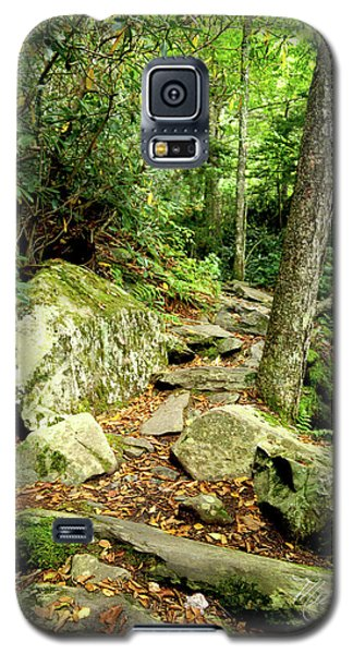 Galaxy S5 Case featuring the photograph Blue Ridge Parkway Hiking Trail by Meta Gatschenberger