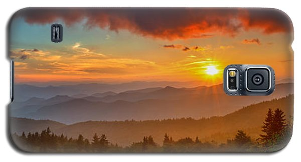 Blue Ridge Sunset Pano Galaxy S5 Case