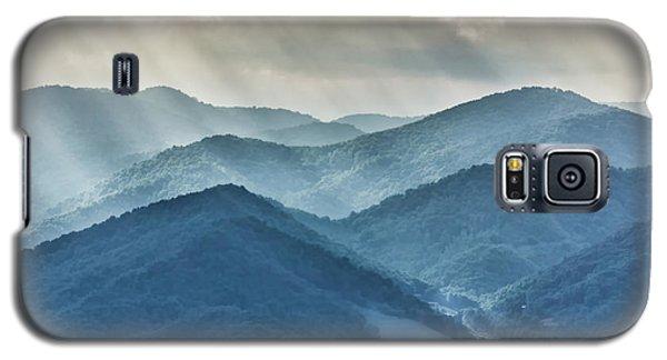 Blue Ridge Sunset Rays Galaxy S5 Case