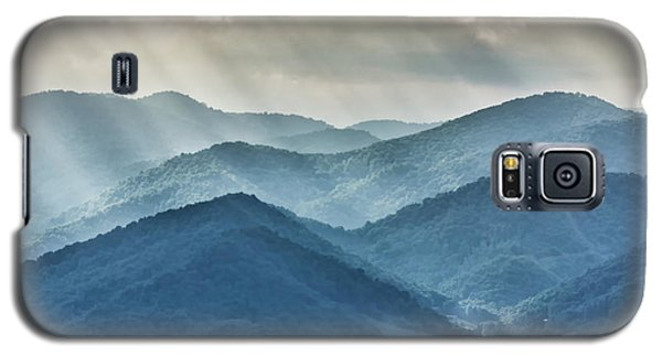 Blue Ridge Sunset Rays Galaxy S5 Case