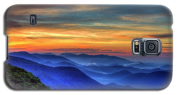 Galaxy S5 Case featuring the photograph Blue Ridges 2 Pretty Place Chapel View Great Smoky Mountains Art by Reid Callaway