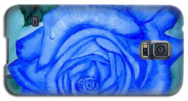 Blue Rose Galaxy S5 Case by Quwatha Valentine