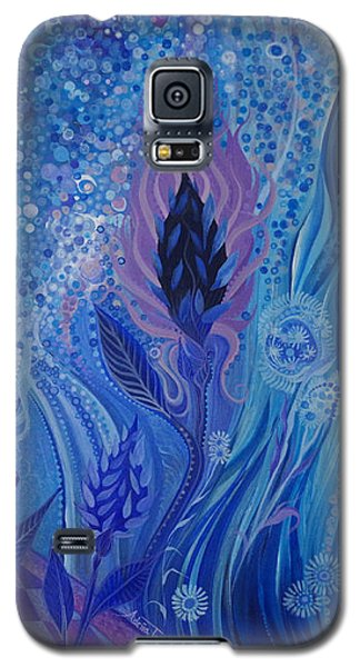 Blue Rosebud Ballroom Galaxy S5 Case by Adria Trail
