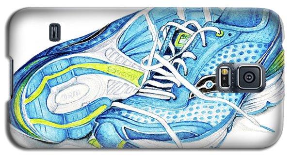 Blue Running Shoes Galaxy S5 Case by Heidi Kriel