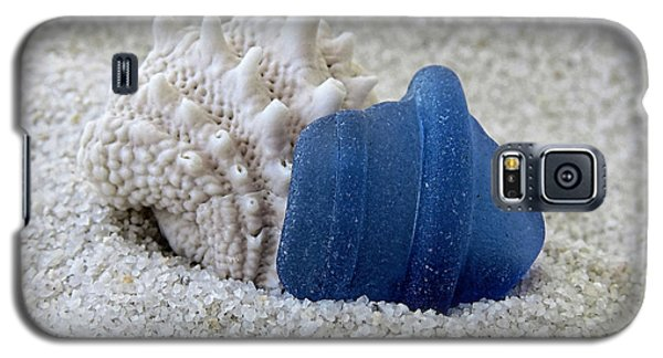 Blue Sea Glass And Seashell  Galaxy S5 Case