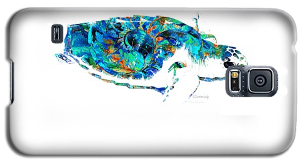 Blue Sea Turtle By Sharon Cummings  Galaxy S5 Case by Sharon Cummings