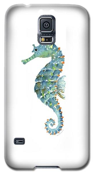 Blue Seahorse Galaxy S5 Case by Amy Kirkpatrick