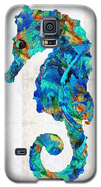 Blue Seahorse Art By Sharon Cummings Galaxy S5 Case