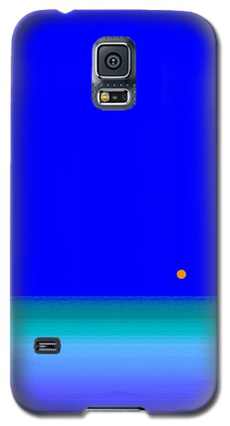 Galaxy S5 Case featuring the digital art Blue Seas by Val Arie