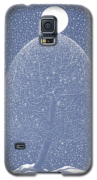 Blue Shadow Tree Galaxy S5 Case by Charles Cater