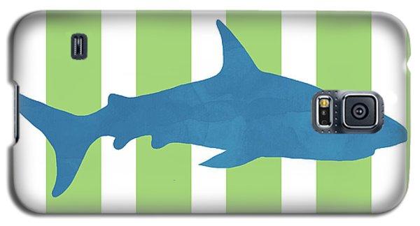 Nurse Shark Galaxy S5 Case -  Blue Shark 2- Art By Linda Woods by Linda Woods