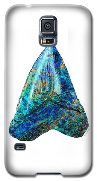 Blue Shark Tooth Art By Sharon Cummings Galaxy S5 Case