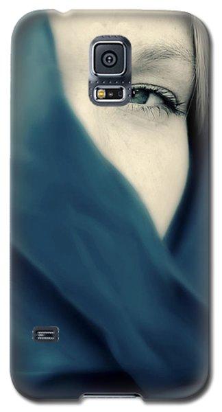 Blue Shawl #02953 Galaxy S5 Case