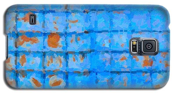 Blue Shutter And Rust Galaxy S5 Case