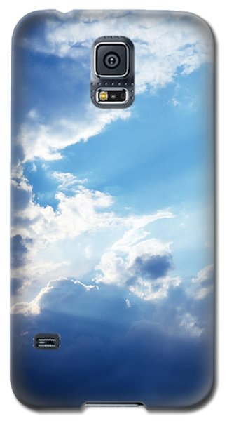 Blue Sky And Clouds With Sun Light Galaxy S5 Case by Jozef Klopacka