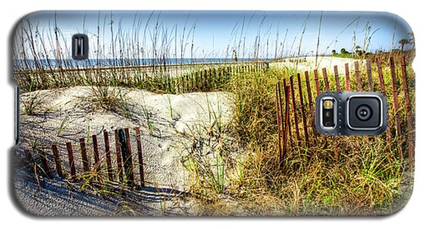 Galaxy S5 Case featuring the photograph Blue Sky Dunes by Debra and Dave Vanderlaan