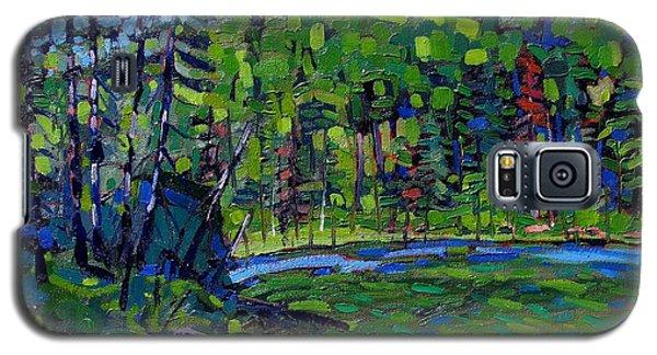 Blue Sky Greens Galaxy S5 Case