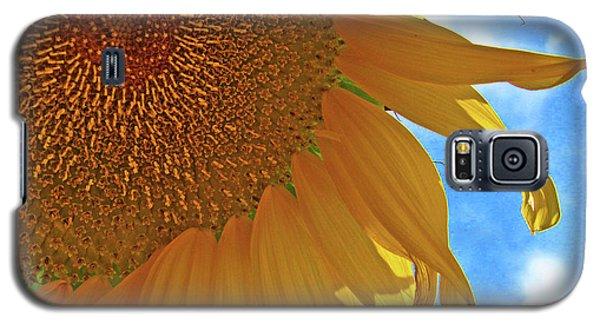 Blue Sky Sunflower Galaxy S5 Case