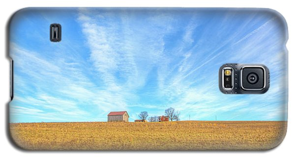 Galaxy S5 Case featuring the digital art Blue Skys And Yellow Fields by Randy Steele