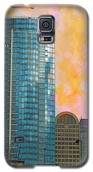 Galaxy S5 Case featuring the photograph Blue Skyscraper Seattle by Yulia Kazansky