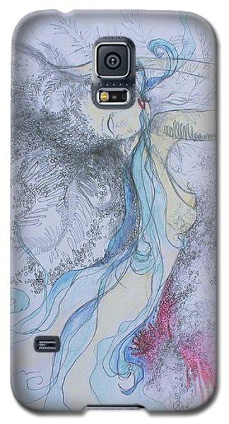 Blue Smoke And Mirrors Galaxy S5 Case